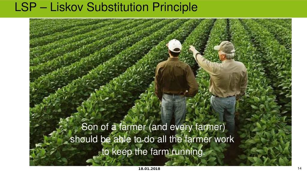 18.01.2018 14 LSP – Liskov Substitution Princip...
