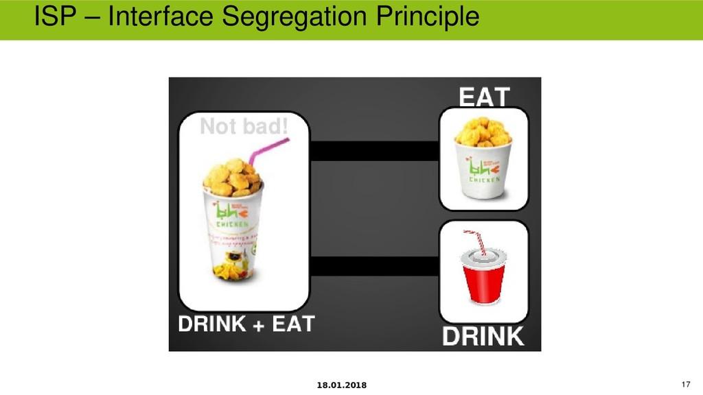 18.01.2018 17 ISP – Interface Segregation Princ...