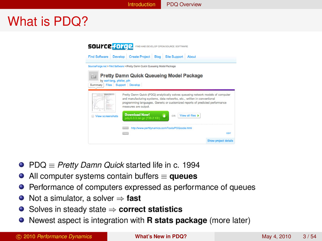 Introduction PDQ Overview What is PDQ? PDQ ≡ Pr...