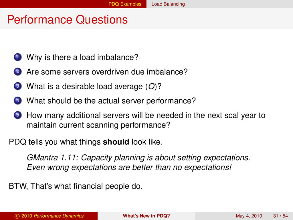 PDQ Examples Load Balancing Performance Questio...