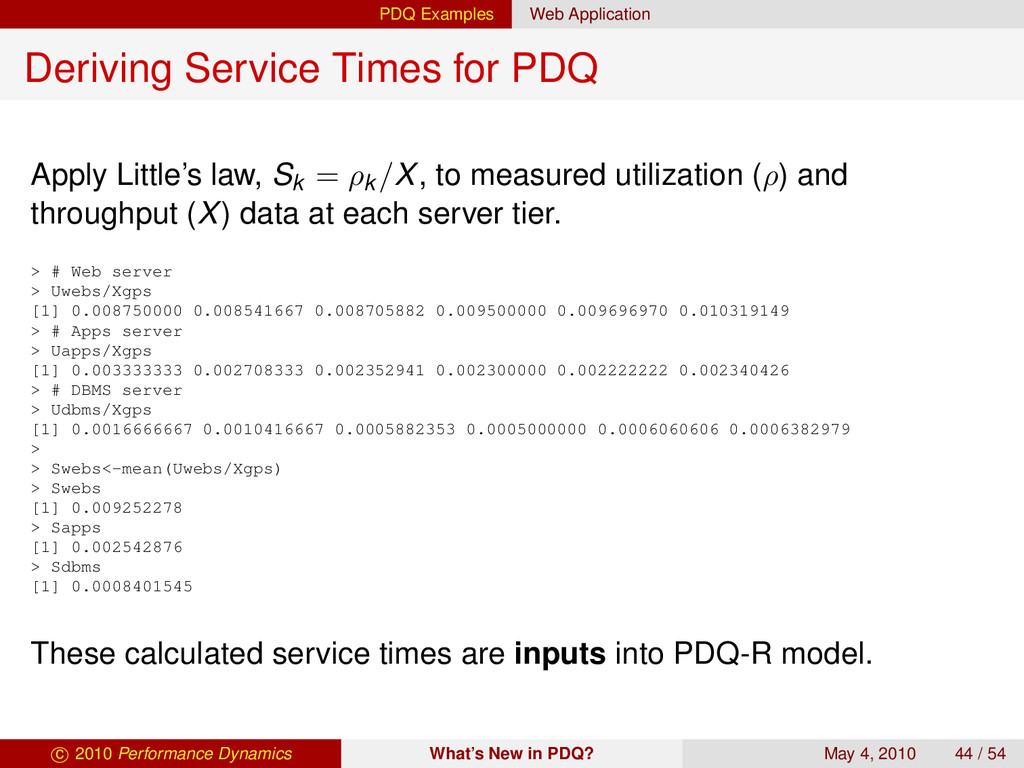 PDQ Examples Web Application Deriving Service T...