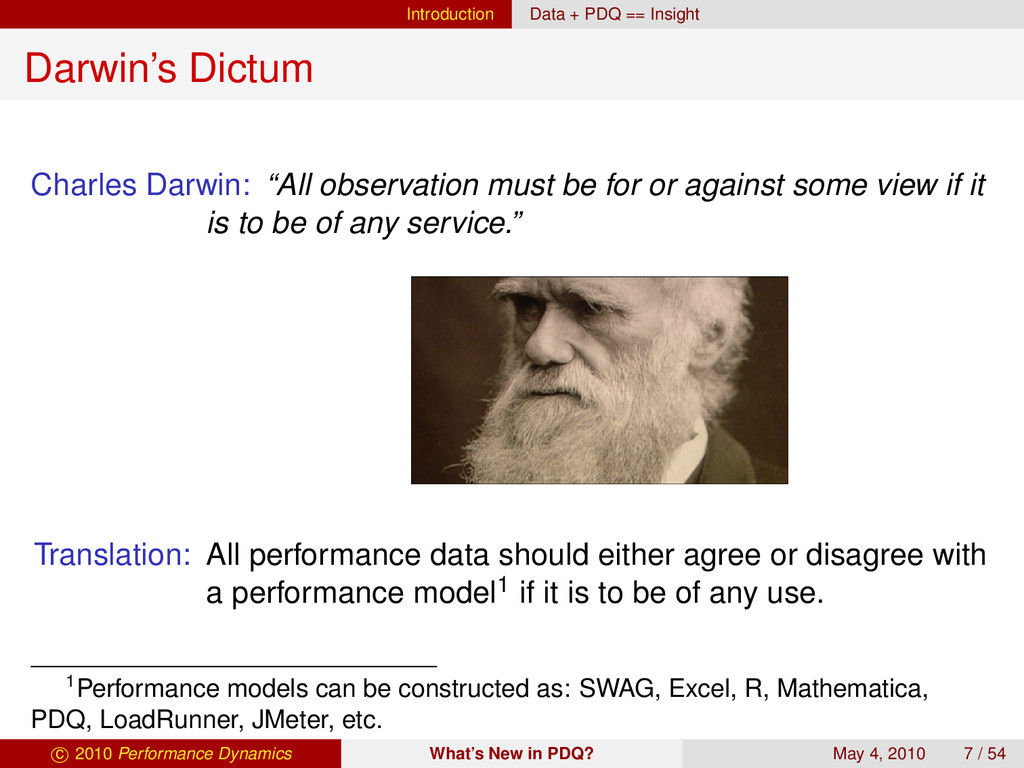 Introduction Data + PDQ == Insight Darwin's Dic...