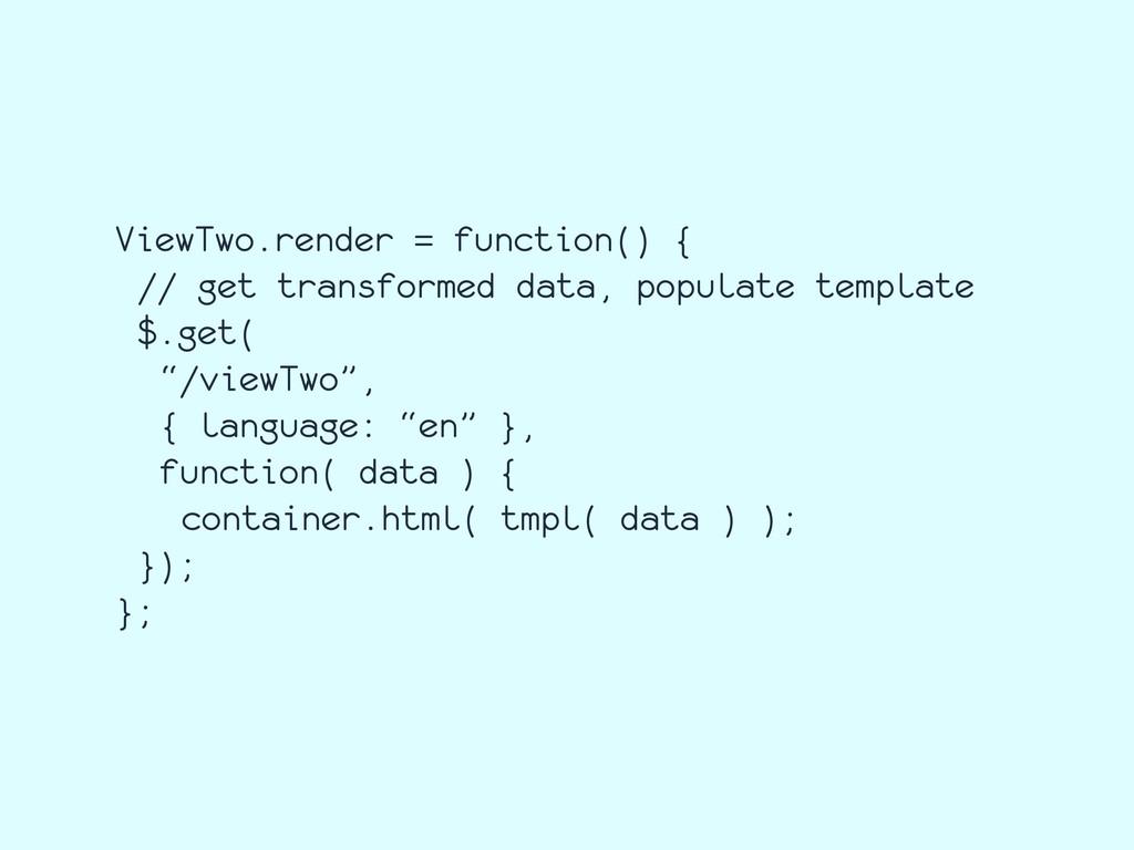 ViewTwo.render = function() { // get transforme...
