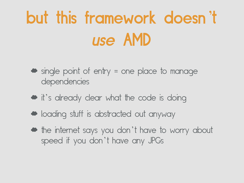 but this framework doesn't use AMD ' single poi...