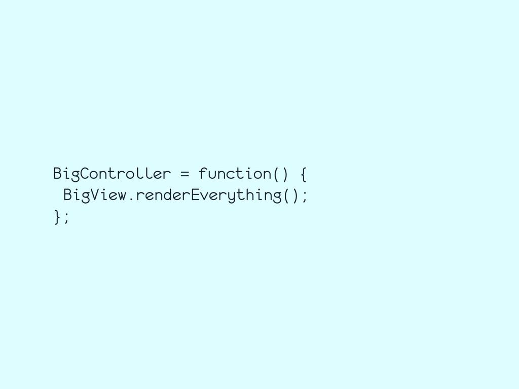 BigController = function() { BigView.renderEver...