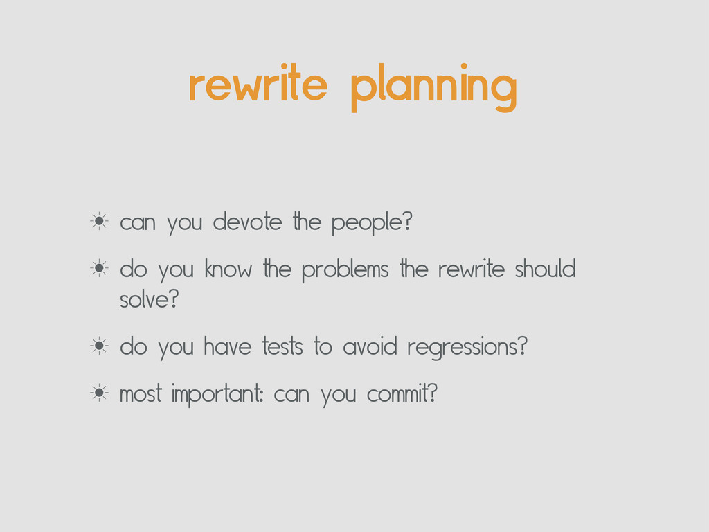rewrite planning ‗ can you devote the people? ‗...
