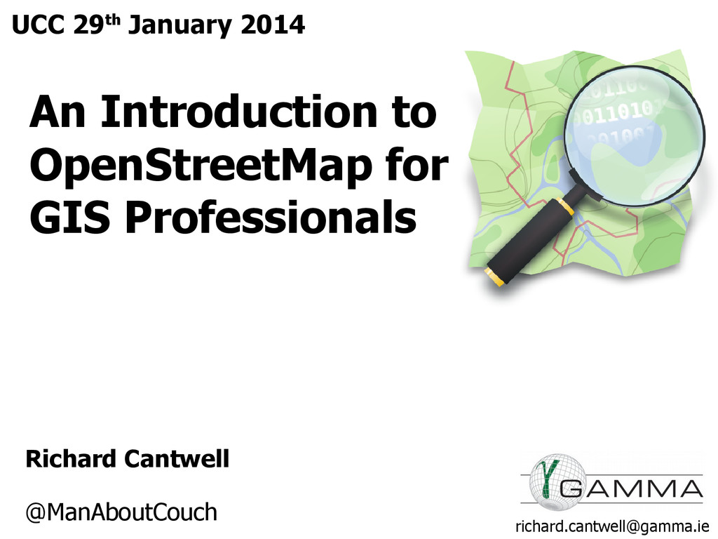 An Introduction to OpenStreetMap for GIS Profes...