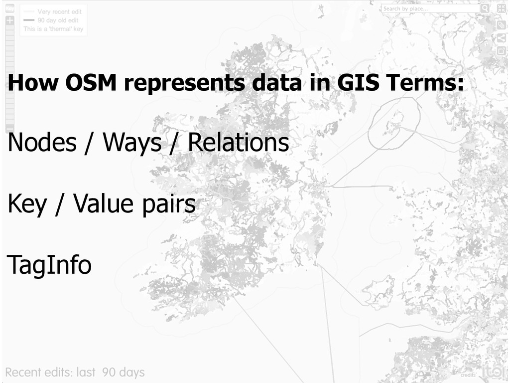 How OSM represents data in GIS Terms: Nodes / W...