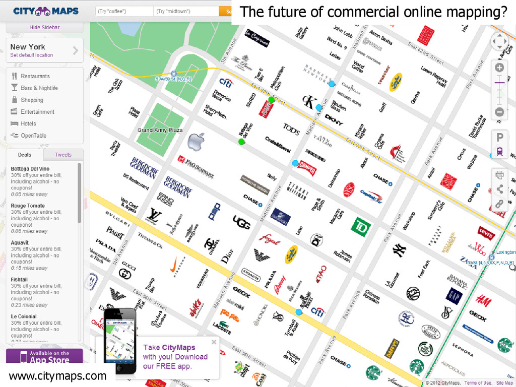 www.citymaps.com The future of commercial onlin...