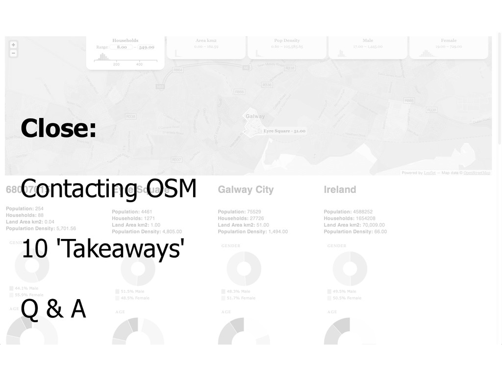 Close: Contacting OSM 10 'Takeaways' Q & A