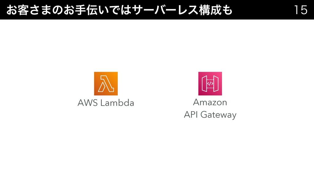 ͓٬͞·ͷ͓ख͍ͰαʔόʔϨεߏ  Amazon   API Gateway AW...