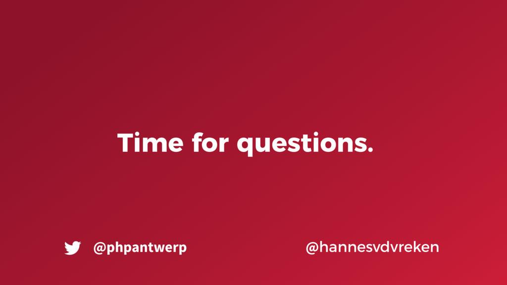 Time for questions. @hannesvdvreken @phpantwerp