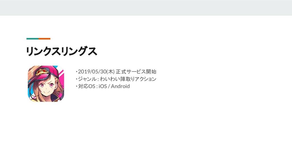 リンクスリングス ・2019/05/30(木) 正式サービス開始 ・ジャンル : わいわい陣取...