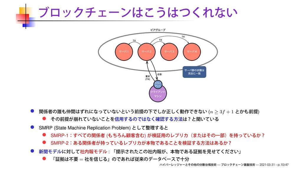 (n ≥ 3f + 1 ) SMRP (State Machine Replication P...