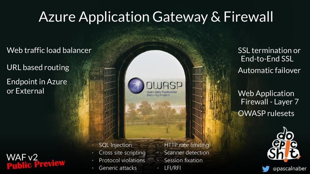 Azure Application Gateway & Firewall Web traffi...