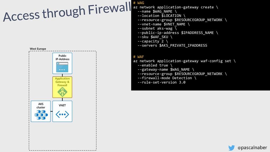 # WAG az network application-gateway create \ -...