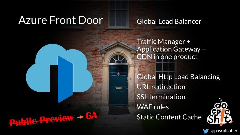 Think ahead. Act now. Azure Front Door Global L...
