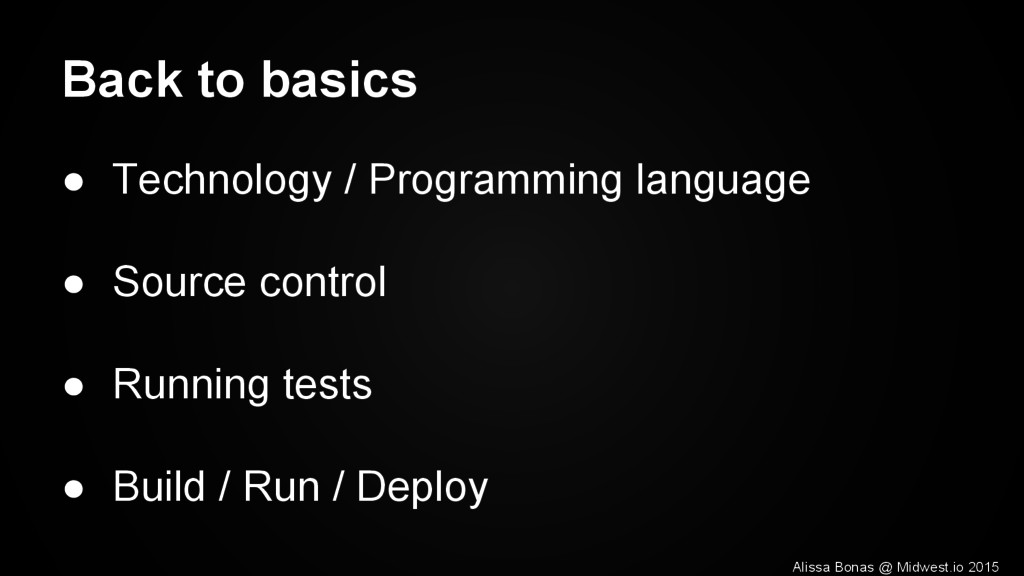Back to basics ● Technology / Programming langu...