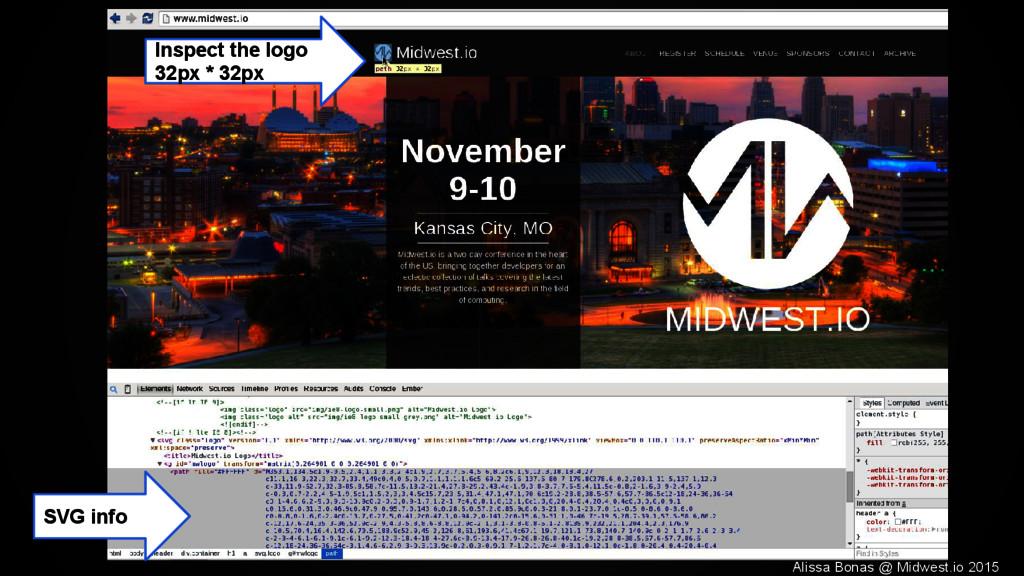 Inspect the logo 32px * 32px SVG info Alissa Bo...