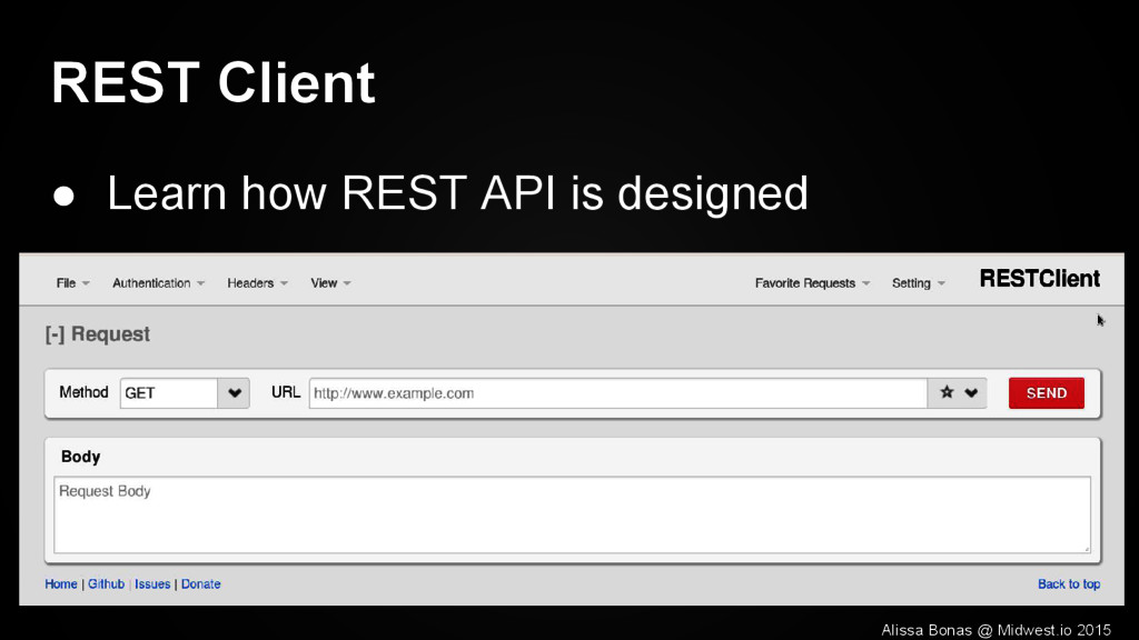 REST Client ● Learn how REST API is designed Al...
