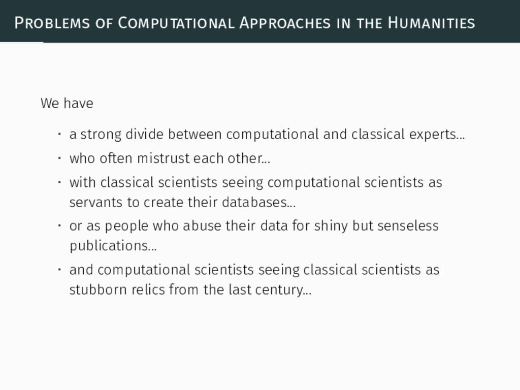 Problems of Computational Approaches in the Hum...