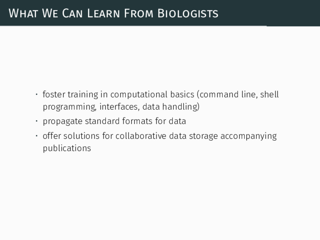 What We Can Learn From Biologists • foster trai...