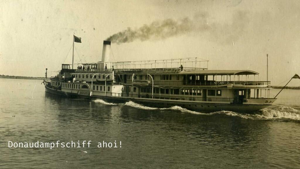 Donaudampfschiff ahoi!