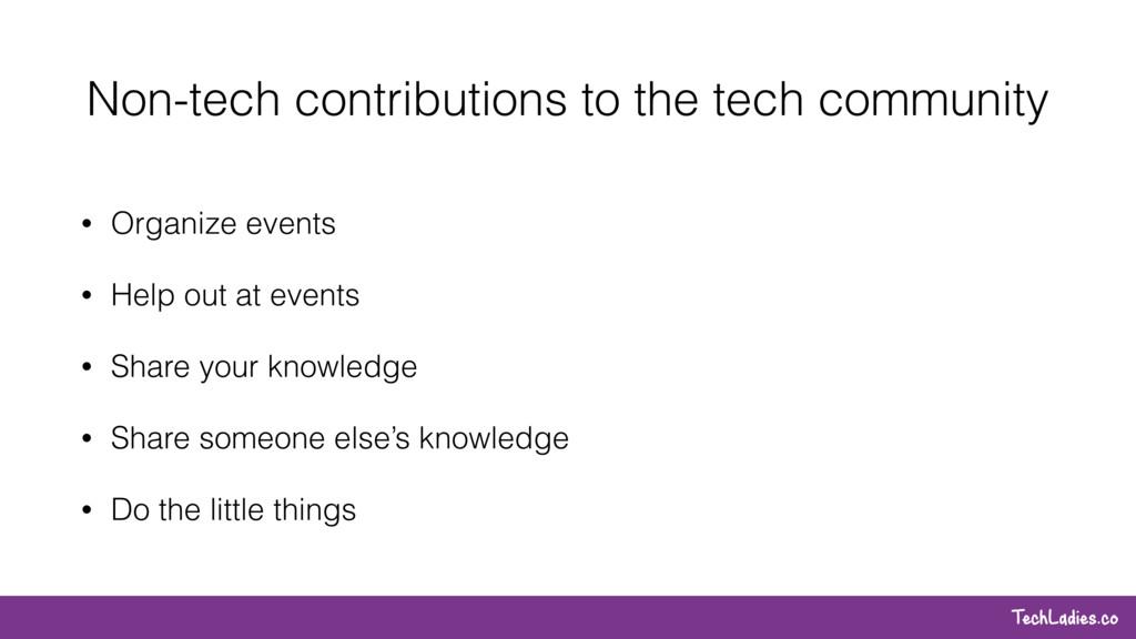 TechLadies.co Non-tech contributions to the tec...
