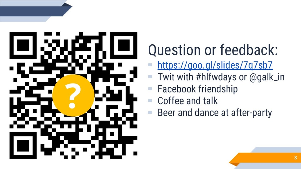 Question or feedback: ▰ https://goo.gl/slides/7...