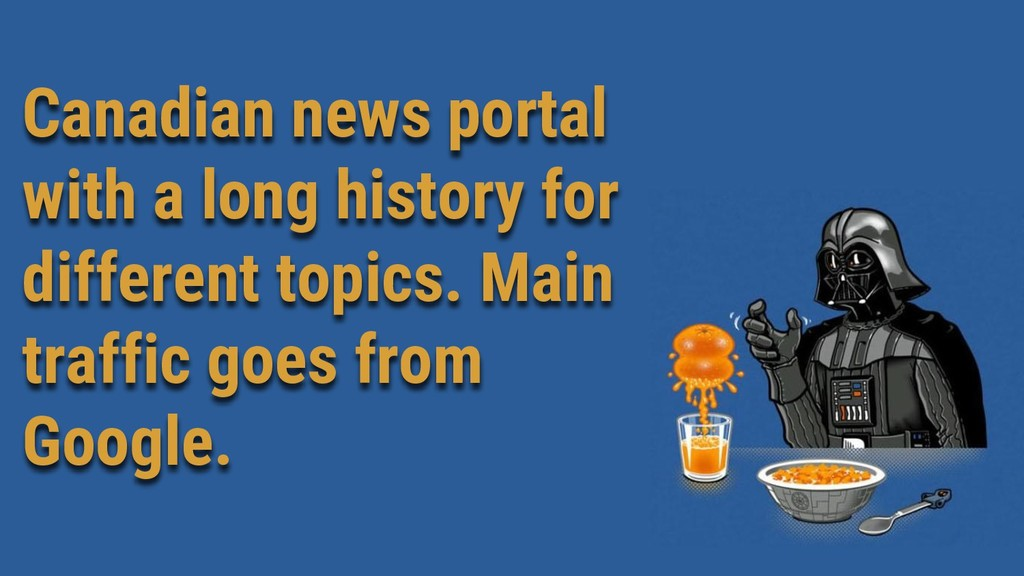 Canadian news portal with a long history for di...