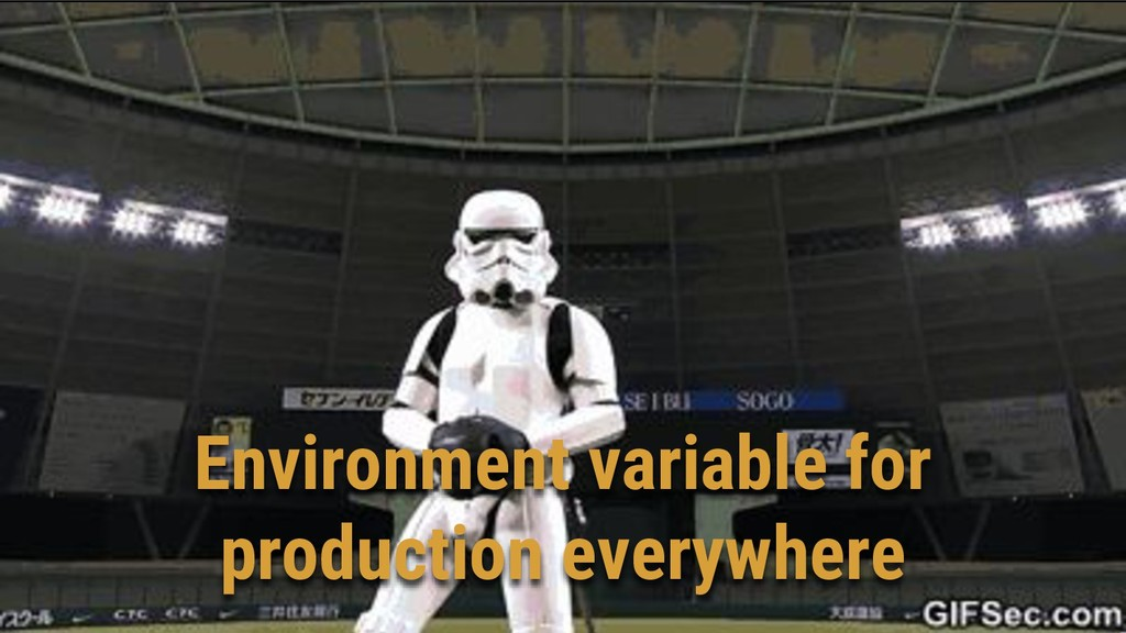 Environment variable for production everywhere