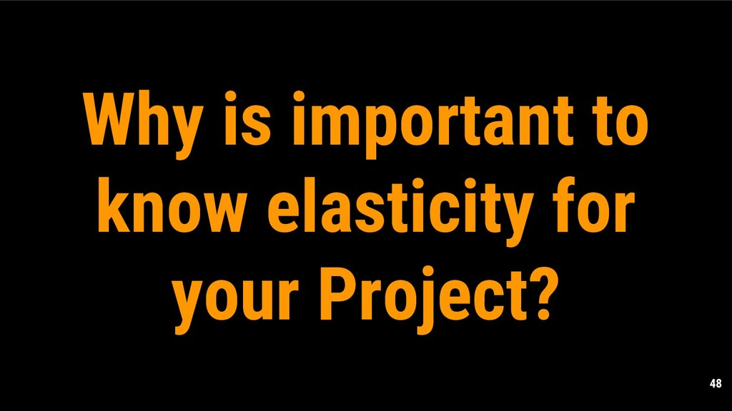 48 Why is important to know elasticity for your...