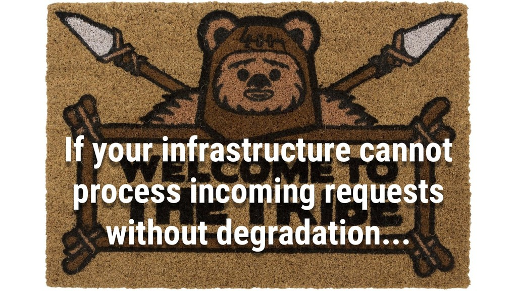 6 If your infrastructure cannot process incomin...