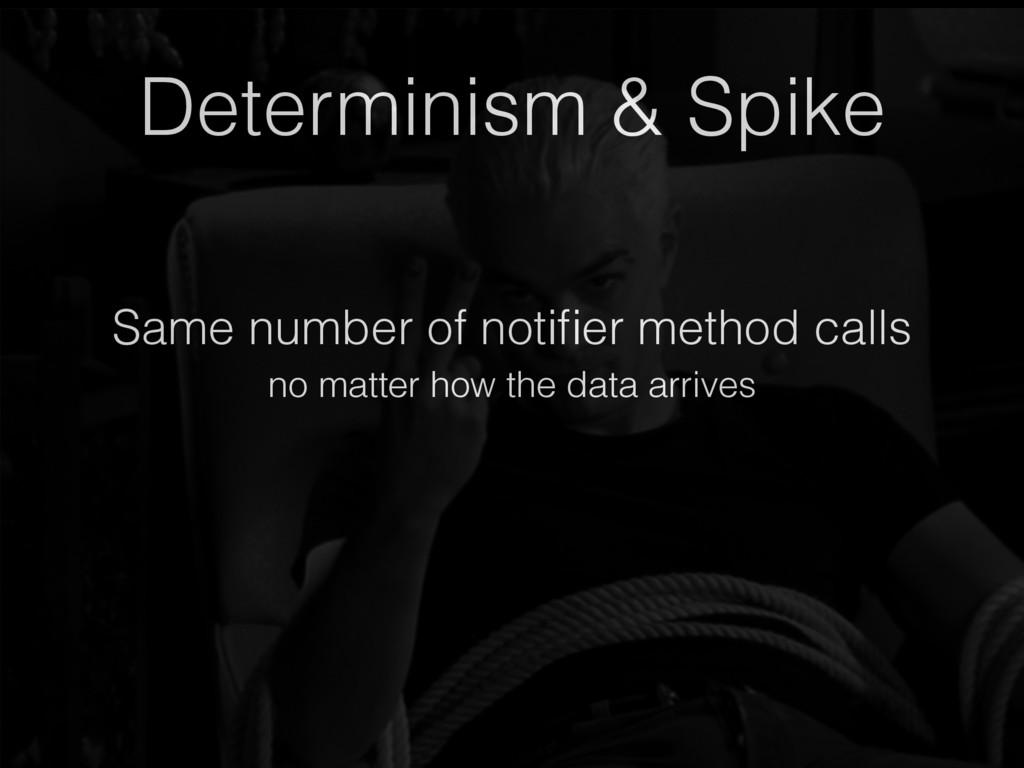 Same number of notifier method calls Determinism...