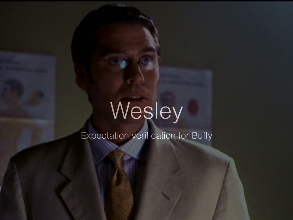 Wesley Expectation verification for Buffy
