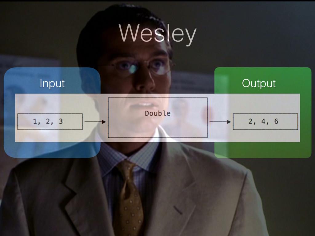 Wesley Input Output