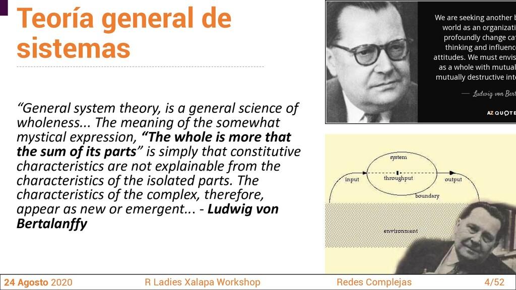 Teoría general de sistemas 24 Agosto 2020 R Lad...