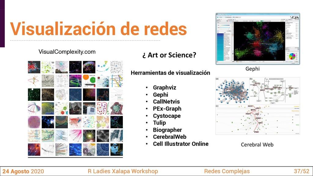 ¿ Art or Science? Visualización de redes 24 Ago...