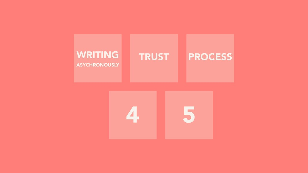 4 5 TRUST PROCESS WRITING ASYCHRONOUSLY