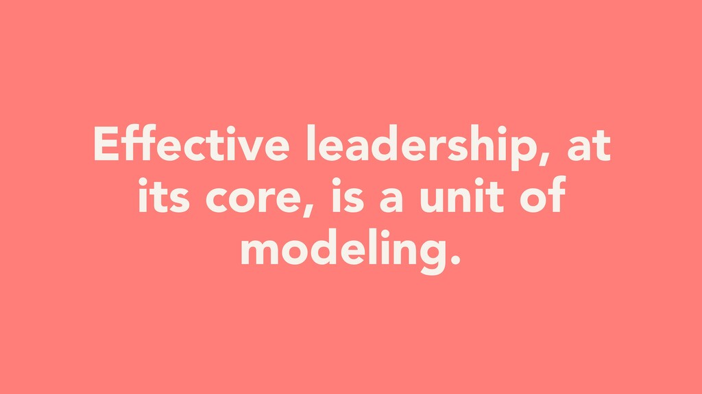 Effective leadership, at its core, is a unit of...