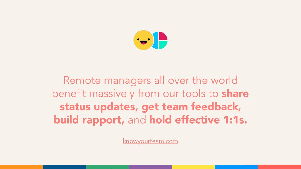 Remote managers all over the world benefit mass...