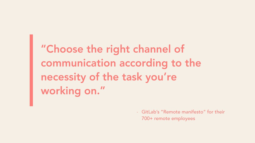 """Choose the right channel of communication acco..."
