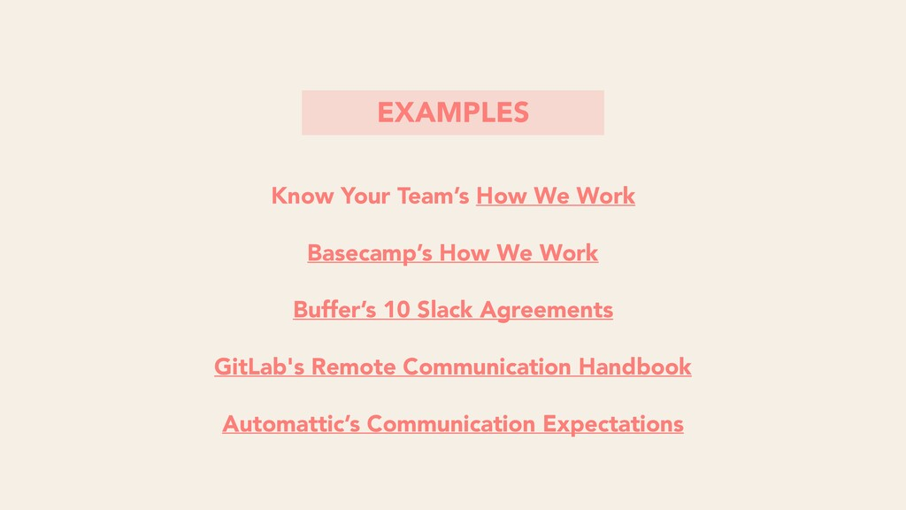 Know Your Team's How We Work Basecamp's How We ...