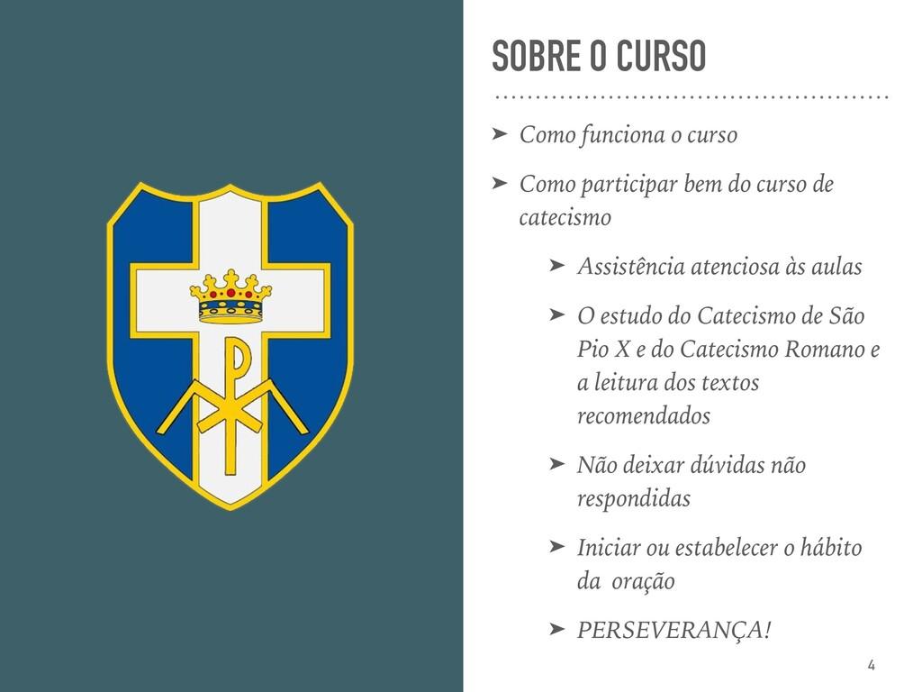 SOBRE O CURSO ➤ Como funciona o curso ➤ Como pa...