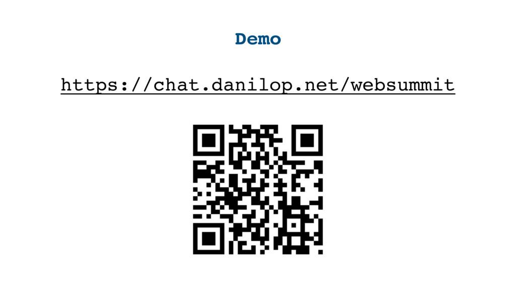 Demo https://chat.danilop.net/websummit