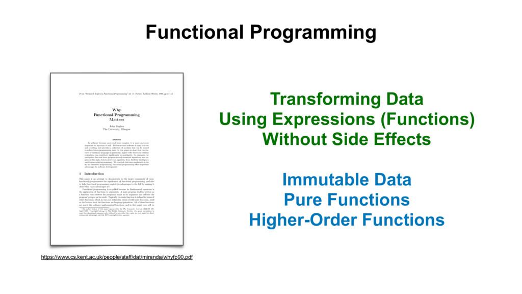Functional Programming Transforming Data Using ...