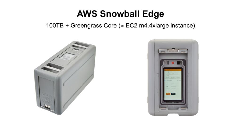 AWS Snowball Edge 100TB + Greengrass Core (≃ EC...