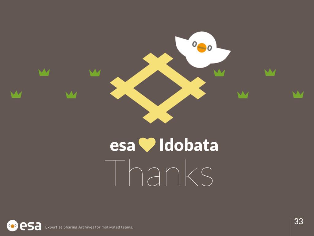 33 Thanks esa ♥ Idobata