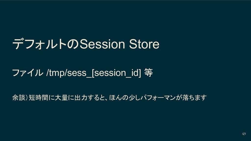 デフォルトのSession Store ファイル /tmp/sess_[session_id]...