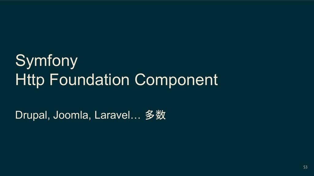 Symfony Http Foundation Component Drupal, Jooml...